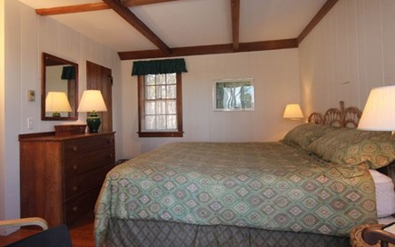 Hyannisport Cape Cod vacation rental - Master Bedroom comfortable king bed, ocean view slider to deck