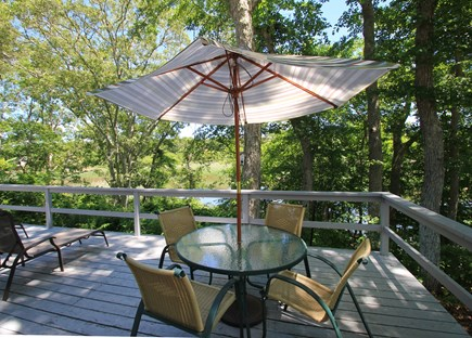 Hyannisport Cape Cod vacation rental - Deck surrounded by trees to embrace natures best.