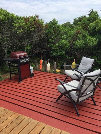 Wellfleet Cape Cod vacation rental - Private Side Deck w/ Gas Grill
