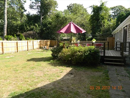 Yarmouthport Cape Cod vacation rental - Fenced Back Yard