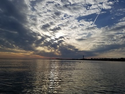 Provincetown Cape Cod vacation rental - An evening panorama from the kayak