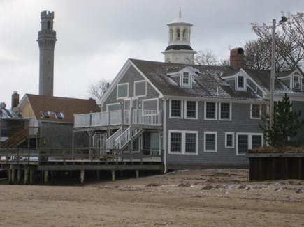 Provincetown Cape Cod vacation rental - Bull Ring Wharf from the beach