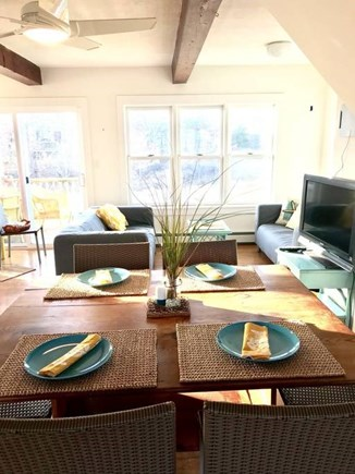 Onset MA vacation rental - Open plan kitchen, living & dining room and 2 decks
