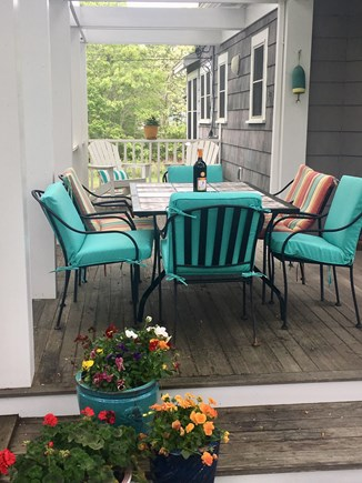Onset MA vacation rental - Relax on one of our two decks. Enjoy outdoor BBQing & dining.