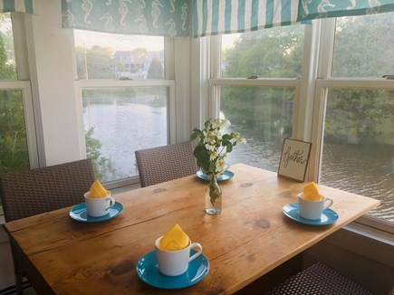 Onset MA vacation rental - Breakfast nook. Take a look at the amazing water views!