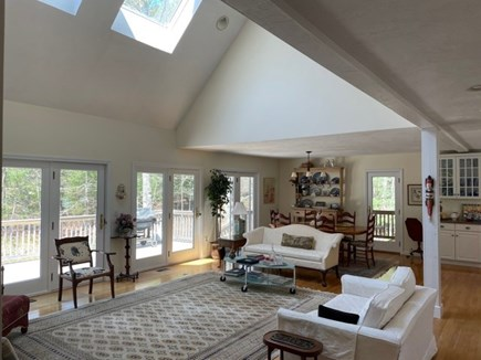 New Seabury Cape Cod vacation rental - Living Room, Dining Room, access to deck and screened porch