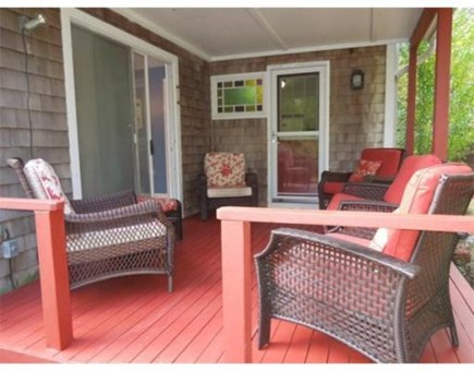 Brewster Cape Cod vacation rental - Shady, cool, covered deck with comfortable seating. Relax all day