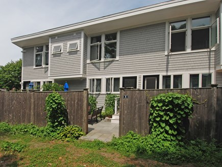 Provincetown Cape Cod vacation rental - The approach to the patio and entry...