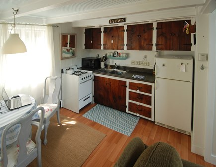 Provincetown Cape Cod vacation rental - Efficiency kitchen and dining area.