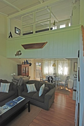 Provincetown Cape Cod vacation rental - View from living area and base of stair to the bed loft.