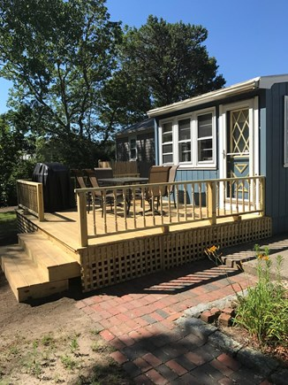West Yarmouth Cape Cod vacation rental - Ourdoor deck with table and BBQ gril.l