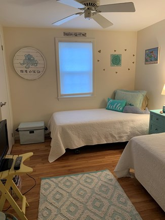 West Yarmouth Cape Cod vacation rental - Cozy Twin bedroom with TV/DVD player.