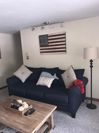 West Yarmouth Cape Cod vacation rental - Comfy living room couch.