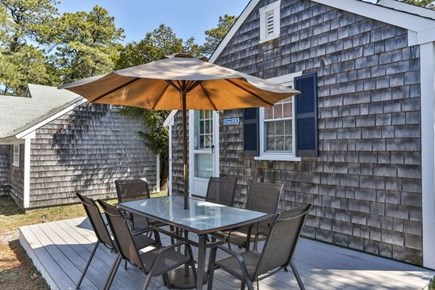 Dennis Port Cape Cod vacation rental - Outdoor dining, charcoal grill, outdoor shower, beach chairs