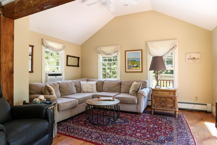 Harwich Cape Cod vacation rental - Family room adjoins the kitchen and opens to the deck
