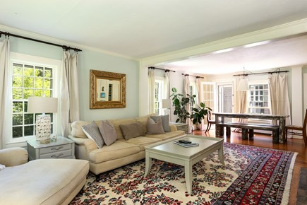 Harwich Cape Cod vacation rental - Living room is bright, comfortable and inviting w/ dining area