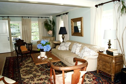 Harwich Cape Cod vacation rental - The living room is bright, comfortable and inviting.