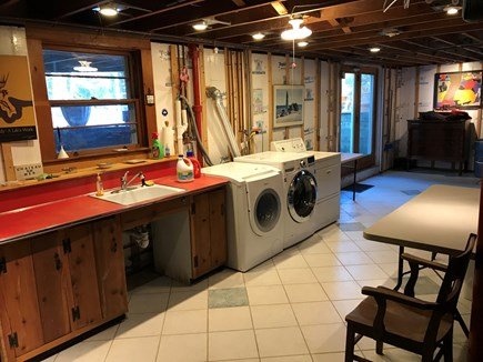E Orleans / Orleans Village Cape Cod vacation rental - Laundry (2 washers & dryer, sink, walk-out basement)