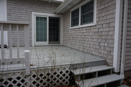North Falmouth Cape Cod vacation rental - Large side deck