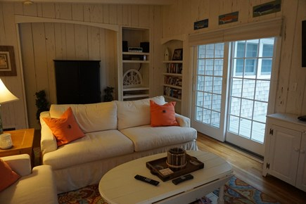 North Falmouth Cape Cod vacation rental - Living room to deck