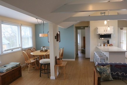 Eastham, Bay Side, North of Campground  Cape Cod vacation rental - Dining area (AC unit is in, but not in picture).