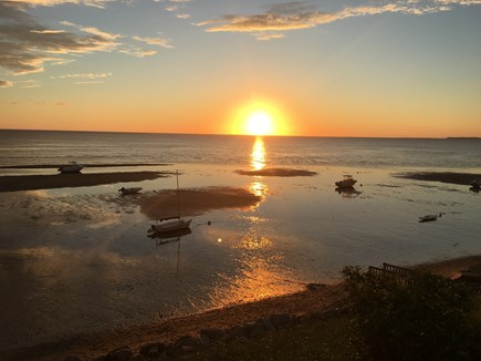 Eastham, Bay Side, North of Campground  Cape Cod vacation rental - Beautiful sunset views just steps (200 feet!) away