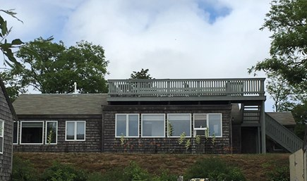 Eastham, Bay Side, North of Campground  Cape Cod vacation rental - Front water views from all front windows, lawn and deck.