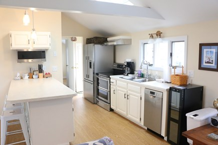 Eastham, Bay Side, North of Campground  Cape Cod vacation rental - Kitchen and hallway to BR#2.