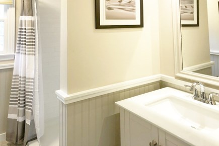 East Sandwich Cape Cod vacation rental - Remodeled downstairs bathroom with walk-in shower