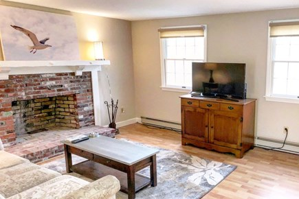 East Sandwich Cape Cod vacation rental - Living room with flat screen TV