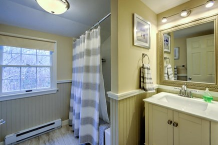 East Sandwich Cape Cod vacation rental - New upstairs bathroom with tub /shower