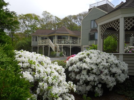 West Falmouth Cape Cod vacation rental - Gazebo and West Sun Deck