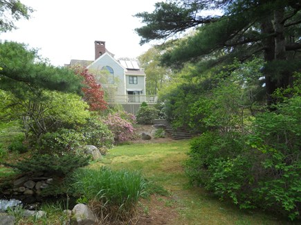 West Falmouth Cape Cod vacation rental - View from the landscaped garden