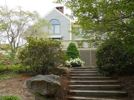 West Falmouth Cape Cod vacation rental - Stairs from the garden
