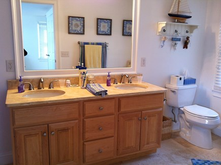 Harwich Port Cape Cod vacation rental - 2nd Floor Master Bath with double sinks