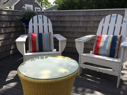 Harwich Port Cape Cod vacation rental - Outdoor Front Patio off of entrance to kitchen 4 plus seating