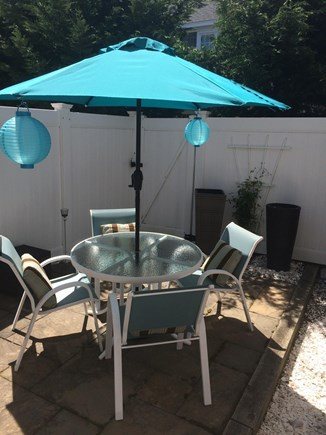 Harwich Port Cape Cod vacation rental - 2nd Outdoor Back Patio off living room with Grill