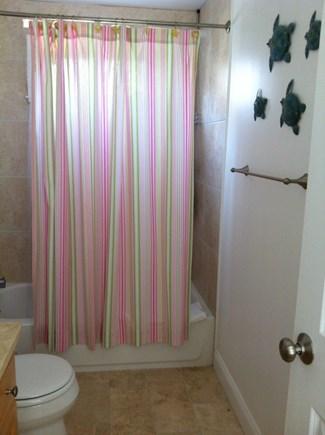 Harwich Port Cape Cod vacation rental - 1st floor Bathroom shower with plenty of light