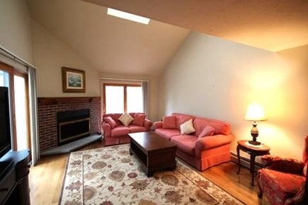 Brewster Cape Cod vacation rental - Living room with cathedral ceiling