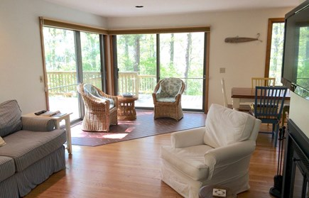 Orleans Cape Cod vacation rental - Living room overlooking deck