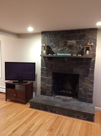 Eastham Cape Cod vacation rental - Fireplace in livingroom