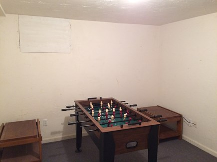 Eastham Cape Cod vacation rental - Foosball table in Basement Playroom