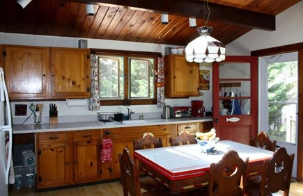 Wellfleet Cape Cod vacation rental - Fully equipped kitchen with large skylights