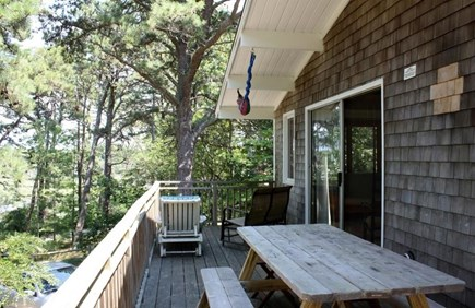 Wellfleet Cape Cod vacation rental - Eat breakfast at the picnic table on the front porch!