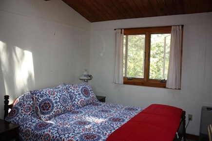 Wellfleet Cape Cod vacation rental - First bedroom with queen bed and two large skylights