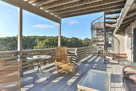 Truro Cape Cod vacation rental - Second level deck