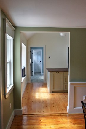Truro Cape Cod vacation rental - View from Living Room through Dining Room and kitchen