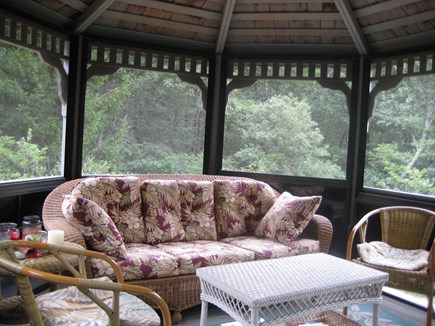 Truro Cape Cod vacation rental - Gazebo interior (dining table not shown)