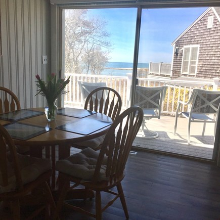 South Chatham Cape Cod vacation rental - Eat in kitchen with ocean view