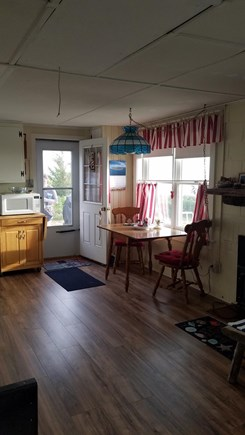 Eastham,  Kingsbury Beach Cape Cod vacation rental - Looking out over Cape Cod bay while eating at the dinette.